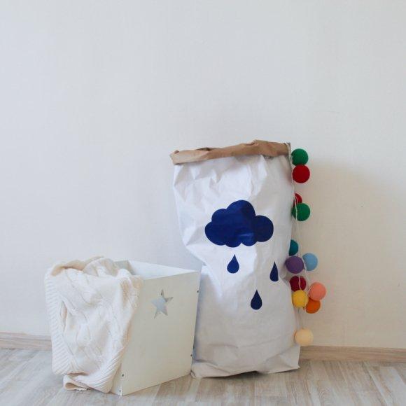 Эко-мешок для игрушек из крафт бумаги Rain