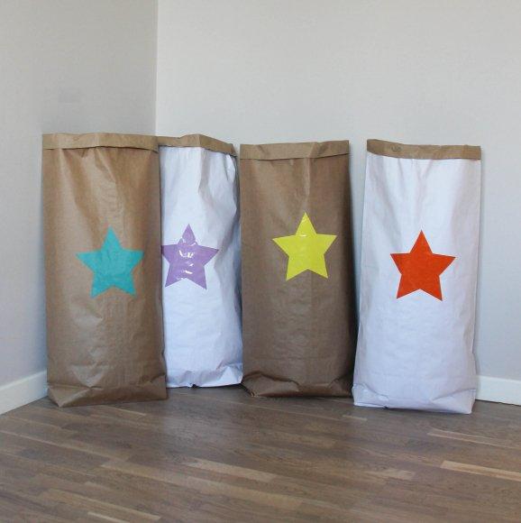Эко-мешок для игрушек из крафт бумаги Big Star