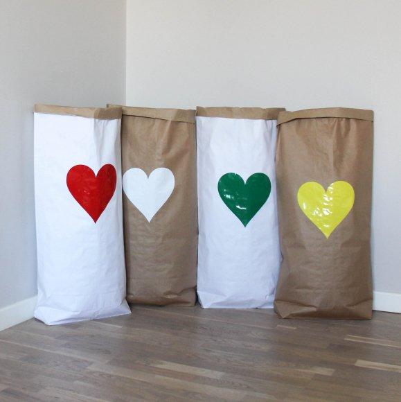 Эко-мешок для игрушек из крафт бумаги Big Heart