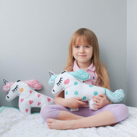 Игрушка-подушка Единорог 45x25 см