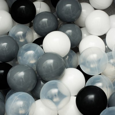 Сет из 200 шаров для сухого бассейна Монохром