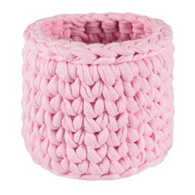 Карандашница вязаная Розовая