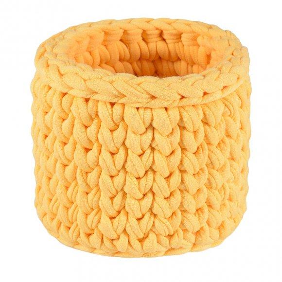 Карандашница вязаная Желтая