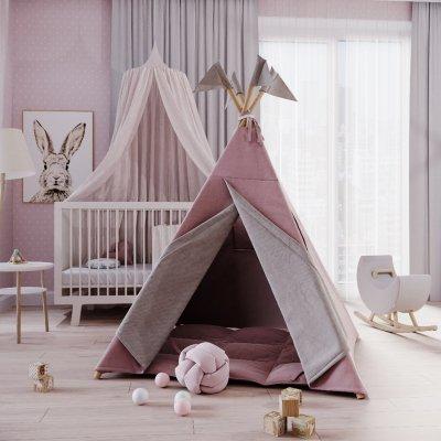 Подушка из розового льна
