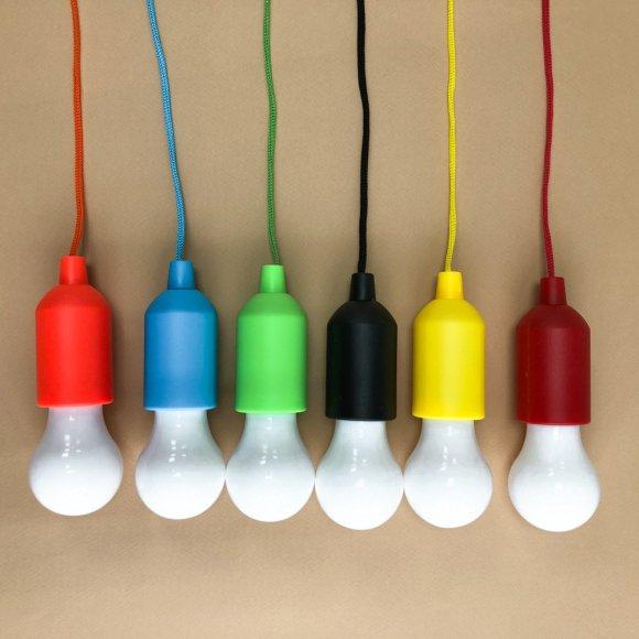 LED светильник лампочка от батареек