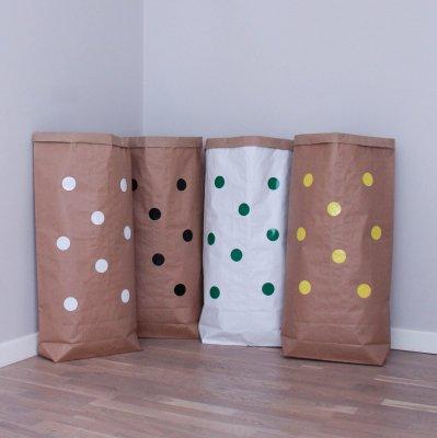 Эко-мешок для игрушек из крафт бумаги Small Dots