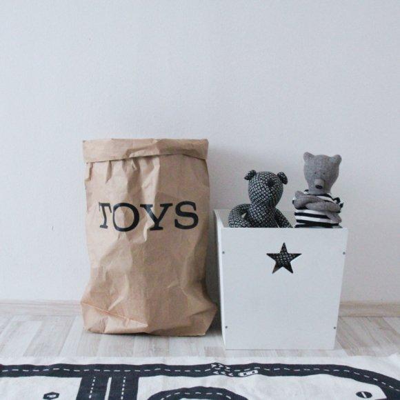 Эко-мешок для игрушек из крафт бумаги Toys