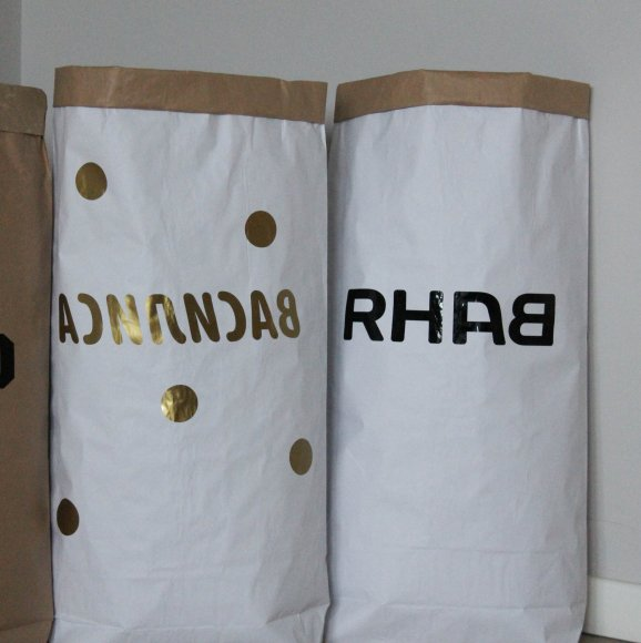 Эко-мешок для игрушек из крафт бумаги с Вашим дизайном