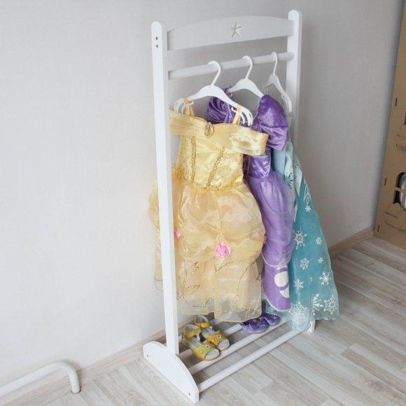 Детская напольная стойка-вешалка Белая