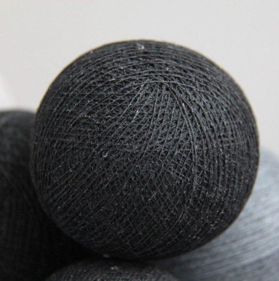 Тайская гирлянда черно-серая