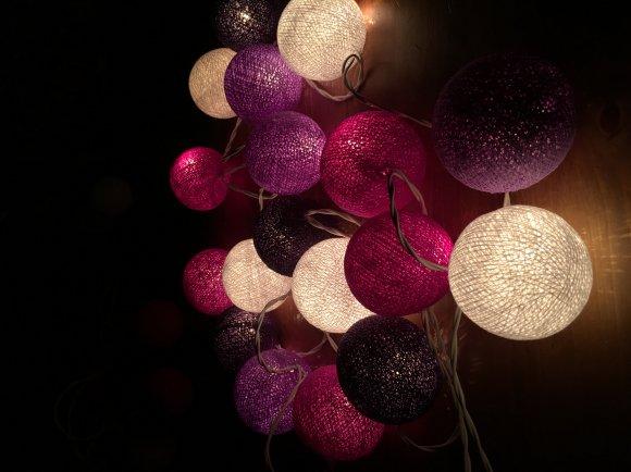 Тайская гирлянда фиолетовая