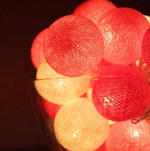Тайская гирлянда розовая