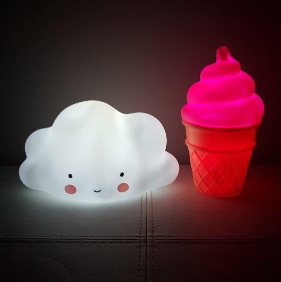 Детский ночник Мороженое Розовое