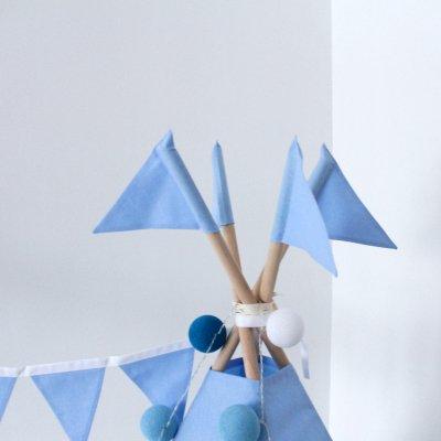 Флажки Голубые 4 шт