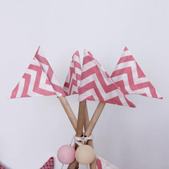 Флажки Pink Zigzag