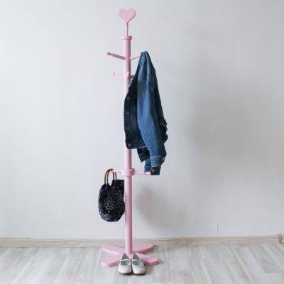 Детская вешалка на ножке розовая