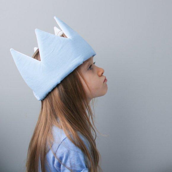 Детская корона Голубая
