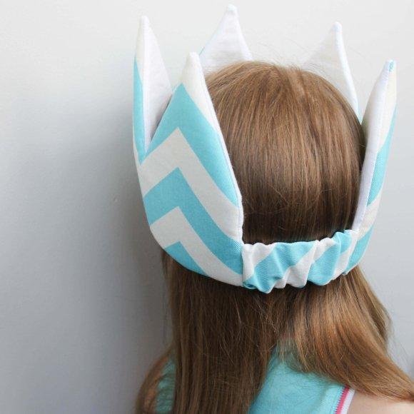 Детская корона Голубой ЗигЗаг