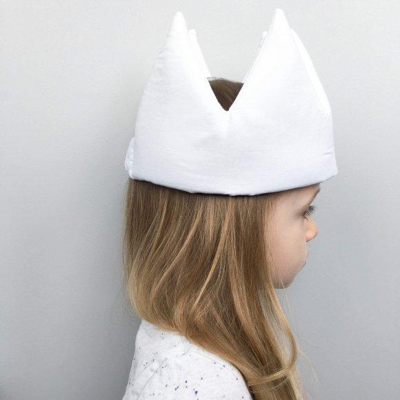 Детская корона Белая