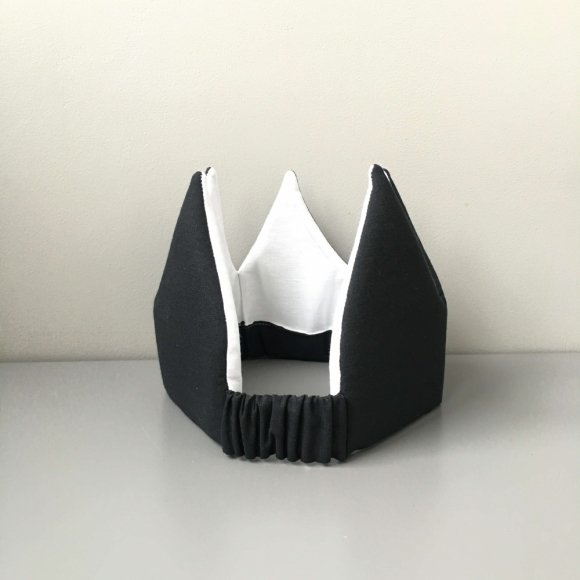Детская корона черная