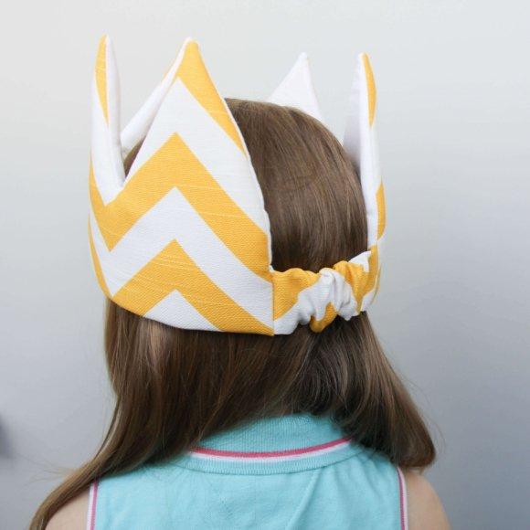 Детская корона Желтый ЗигЗаг