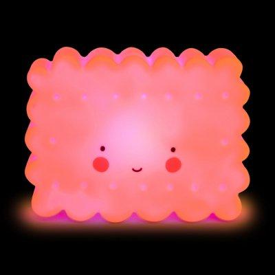 Детский ночник Печенье Розовое