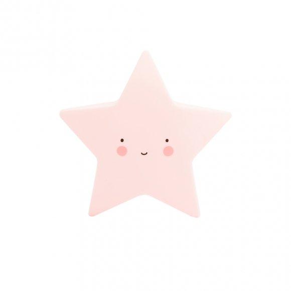 Детский ночник Звезда Розовый