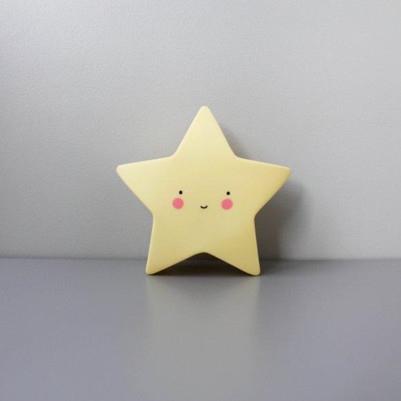 Детский ночник Звезда Желтый
