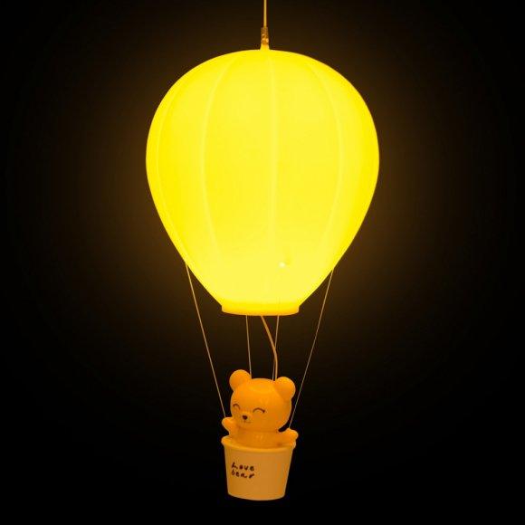 Детский ночник Медвежонок на Воздушном Шаре, желтый