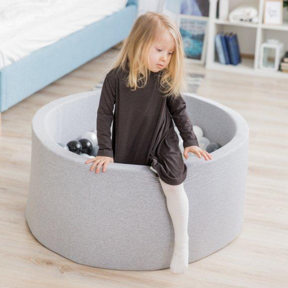 Детский сухой бассейн серого цвета