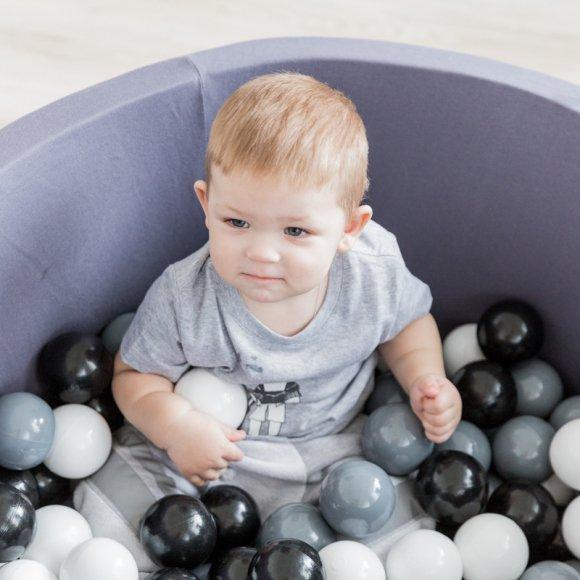 Детский сухой бассейн темно-серого цвета