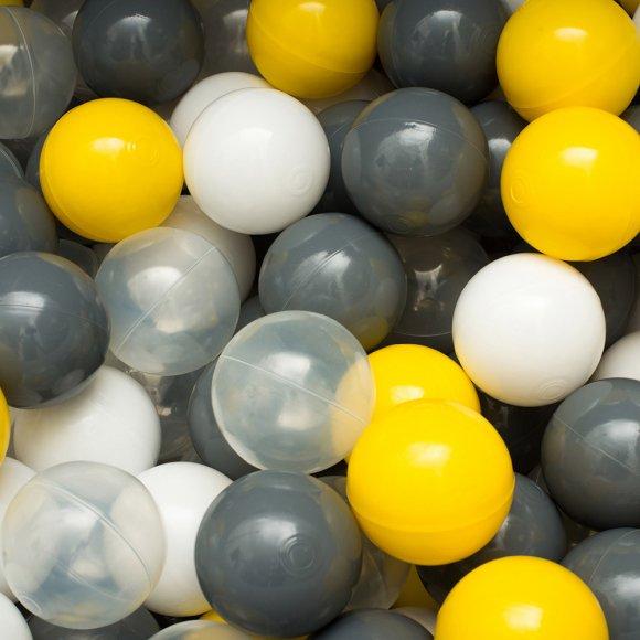 Сет из 200 шаров для детского сухого бассейна Серо-желтый