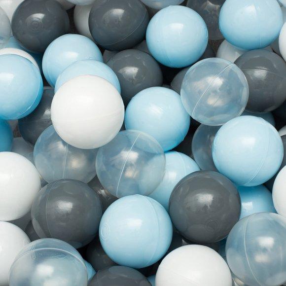 Сет из 200 шаров для детского сухого бассейна Серо-голубой