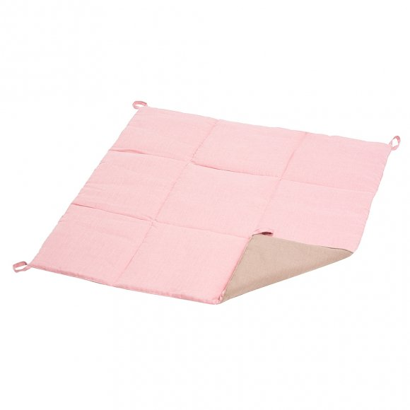 Вигвам из розового льна с контрастными шторками