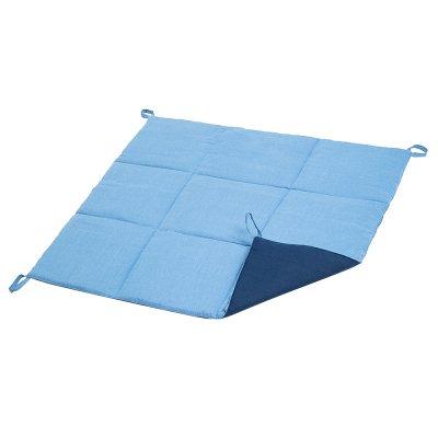 Стеганый коврик для Вигвама из Голубого льна