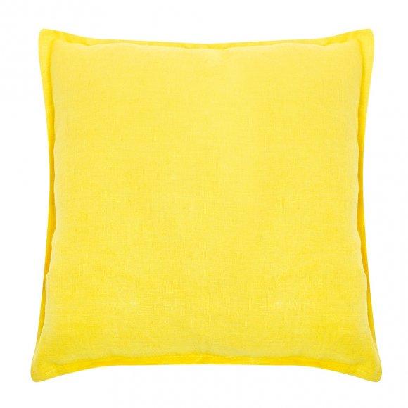 Подушка из желтого льна для вигвама из Серого Льна