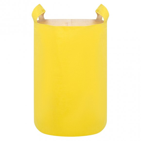 Тканевая корзина из Желтого Льна