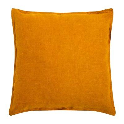 Подушка из льна Горчица