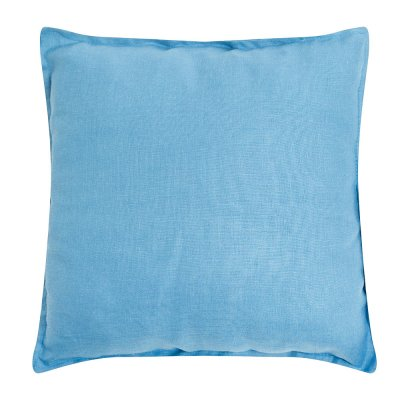 Подушка из голубого льна