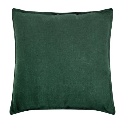 Подушка из зеленого льна