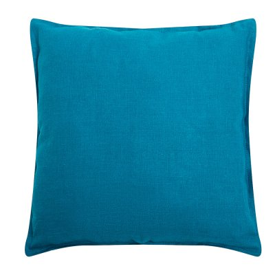 Подушка из бирюзового льна