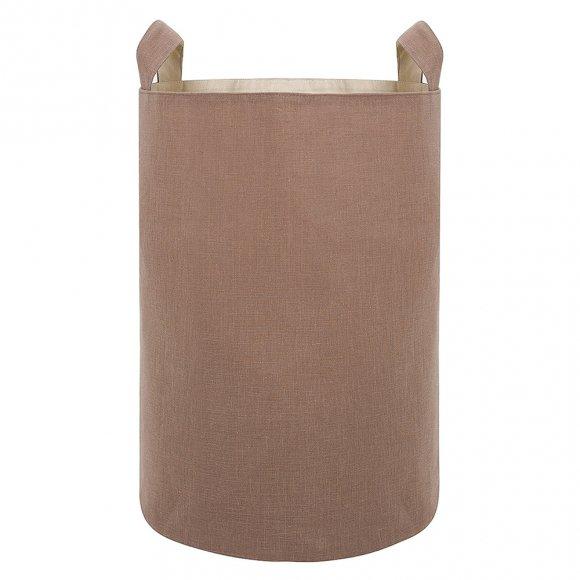 Тканевая корзина из кофейного льна