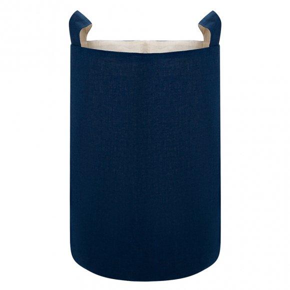 Тканевая корзина из Синего Льна